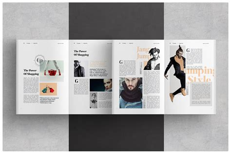 magazine layout  behance
