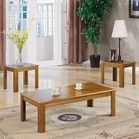oak accent tables Coaster Fine Furniture 3-Piece Oak Accent Table Set at ...