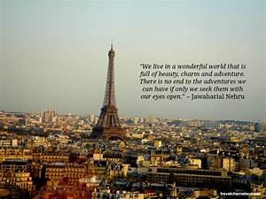 33 Most Inspiri... Inspirational Paris Quotes