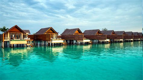 Maldives, Resort, Sea, Turquoise, Bungalow, Tropical