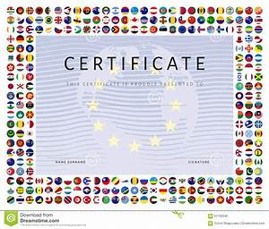award certificate template border certificate template with world flags icons as border