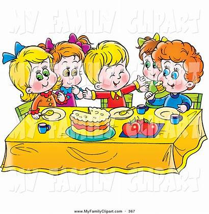 Eating Clipart Table Eat Clip Children Lunch