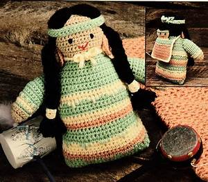 Southwestern Papoose Baby Bunting W  Matching Doll  Crochet
