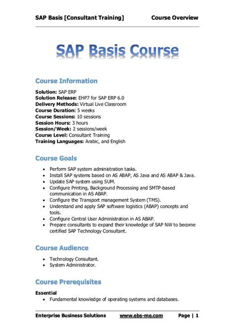 Sap Basis Sle Resume by Sap Basis Sle Resume 28 Images Sap Basis Administrator Resume Sales Administrator Sap Basis