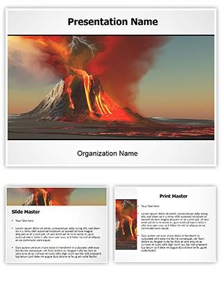 professional volcano editable powerpoint template