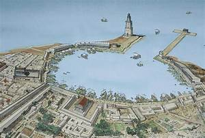 beautiful reconstruction of the port of Leptis Magna in ...