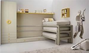 Lit Superposé Rabattable : armoire lit escamotable et lits superpos s chambre d 39 enfant ~ Preciouscoupons.com Idées de Décoration