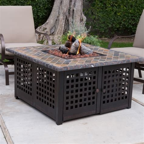 outstanding gas pit table and chairs costco home