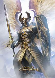Angel Protector by artozi fighter paladin shield sword ...