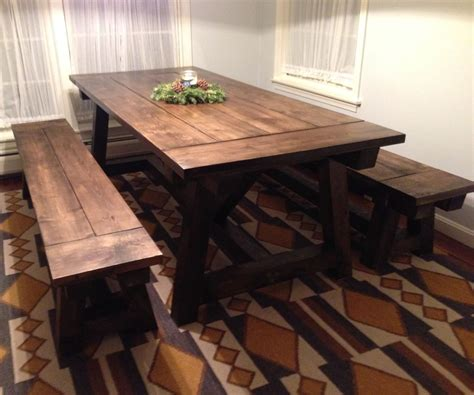 benches   farmhouse table home sweet home