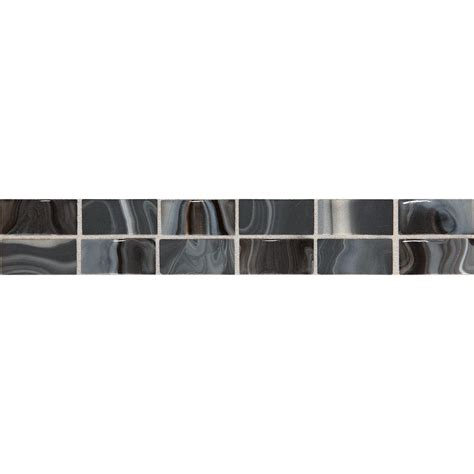 daltile fashion accents black swirl 2 in x 12 in ceramic