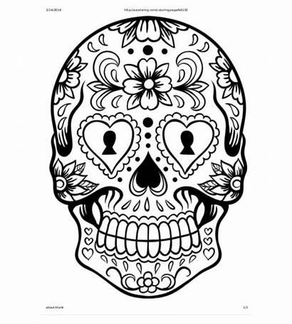 Skull Template Drawing Sugar Stencils Pdf 3d