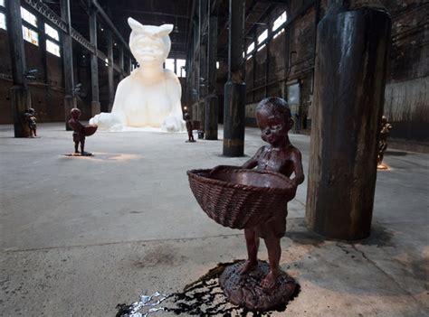 sugar subtlety baby marvelous domino kara walker york slave sphinx factory blackamoors statue exhibition plant july times attraction features way