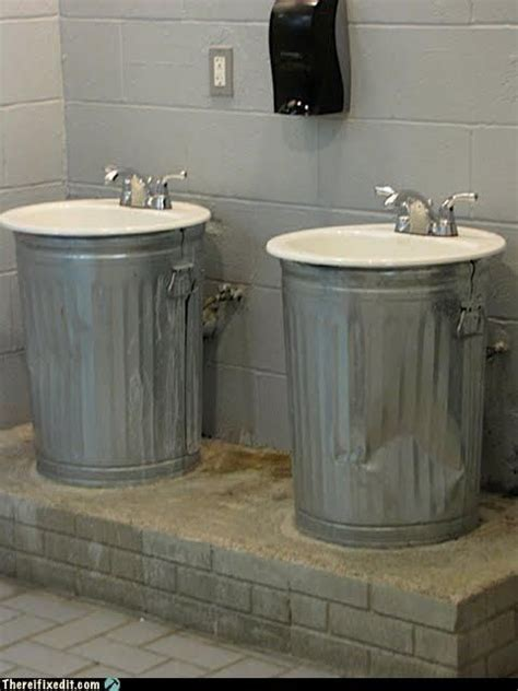 man cave bathroom sink neat bathroom idea the cans just hold up sinks and cover