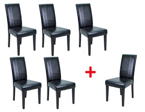 chaise h et h lot de 5 chaises 1 offerte guevara noir