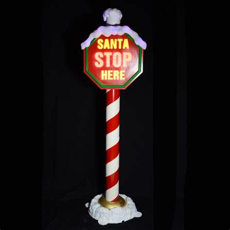 outdoor light up santa christmas indoor or outdoor flashing light up snowy quot santa
