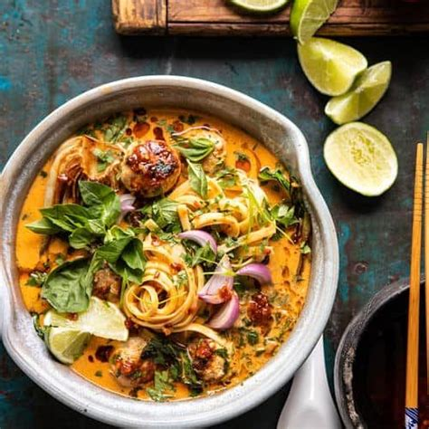 Even if you don't have much chicken left over, you should still make this. Weeknight Thai Chicken Meatball Khao Soi | Recipe in 2020 ...