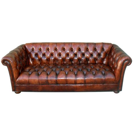 antique tufted leather sofa vintage leather tufted chesterfield style sofa c 1930 39 s