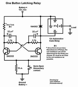 Single Button Latching Relay