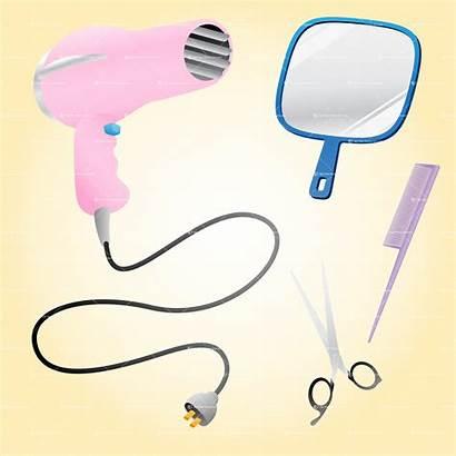 Salon Hair Clip Vector Styling Tools Clipart