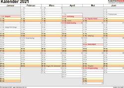 Dabei können sie gemäß ihren ansprüchen eine darstellung als jahreskalender, als halbjahreskalender, als quartalskalender oder als monatskalender wählen. Kalender 2021 zum Ausdrucken als PDF (17 Vorlagen, kostenlos)