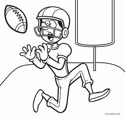 Football Coloring Pages Player Printable Cool2bkids Whitesbelfast