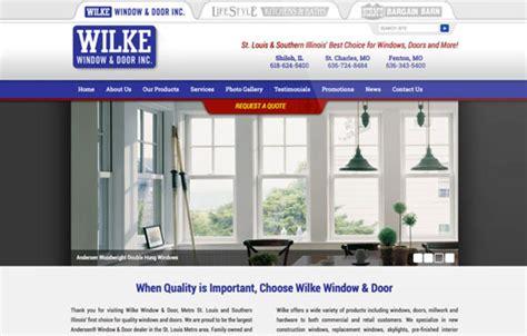 wilke window and door wilke window door website visual lure