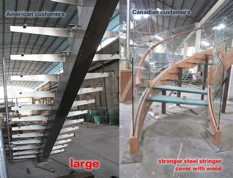 Used Staircase For Sale by Popular Villa Wrought Iron Stair Steel Wood Stairs