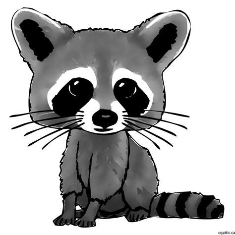 cartoon raccoon drawing   steps  photoshop