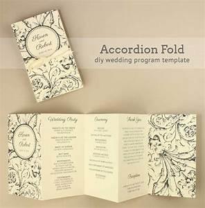diy tutorial free printable folded wedding program boho With diy wedding invitations programs free