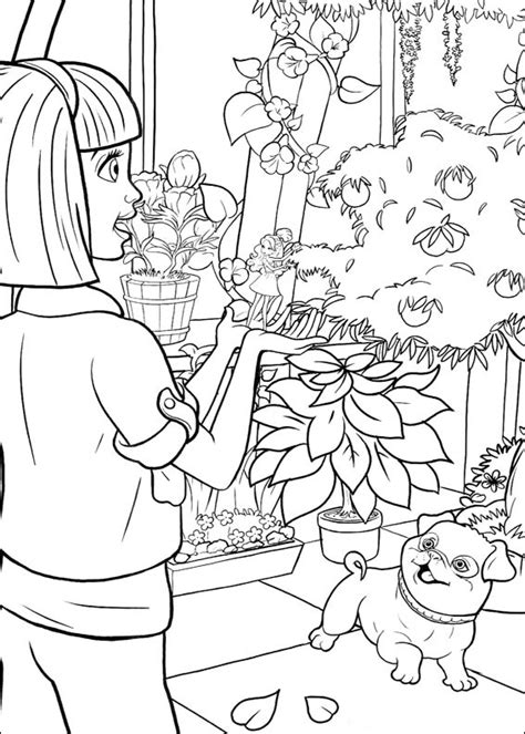 barbie thumbelina coloring pages    print