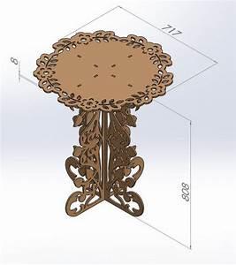Router Laser CNC DXF Files Table Decoration ArtCAM Vectors