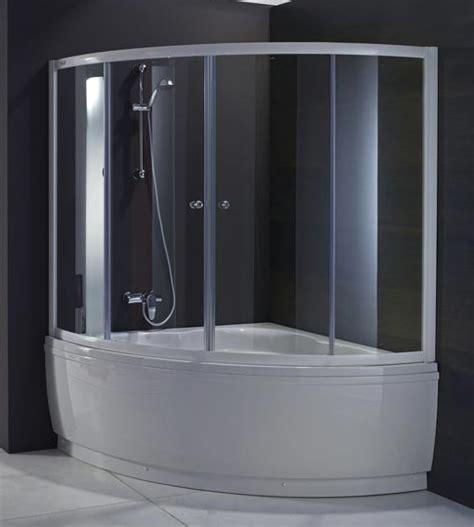 vasca da bagno angolare con doccia sopravasca per vasca angolare