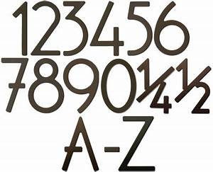 house art dark bronze 3 inch house numbers and letters With 3 inch house numbers and letters