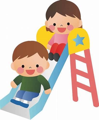 Slide Playground Clipart Child Boy Play Park