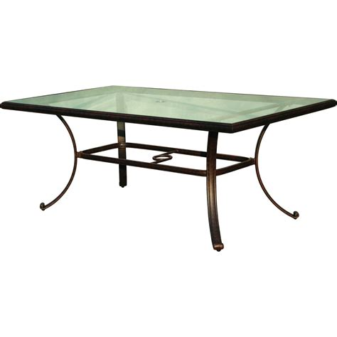 42 inch glass top dining table darlee classic 72 x 42 inch cast aluminum patio dining