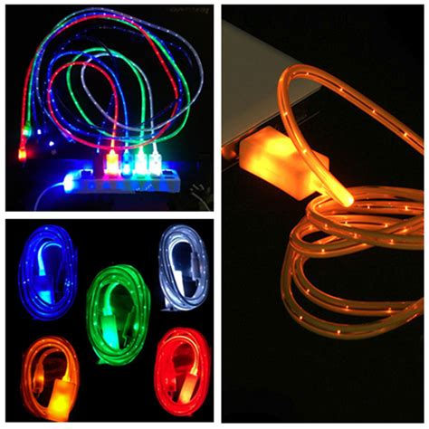 best luminous led light usb data sync charger cable for