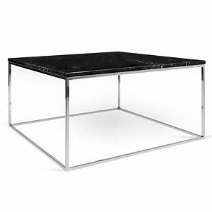 gleam black marble chrome coffee table by temahome eurway With marble and chrome coffee table