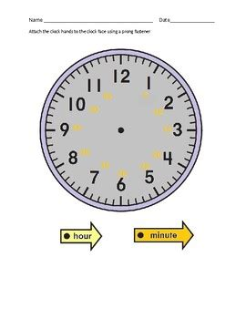 time   worksheet  cut   hour clock