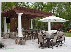 Outdoor Kitchen and Pergola concrete Patio