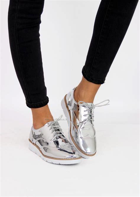 derbies argent 233 s chaussures en 2018 chaussure tendance chaussures 2017 et