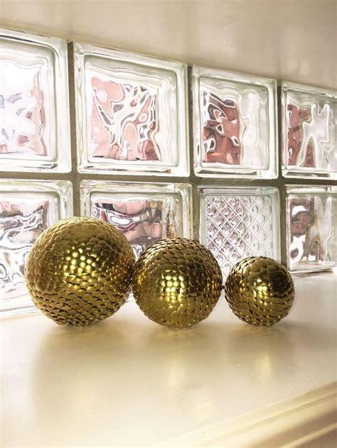 Ebay Home Decor Uk by 3 Vase Filler Balls Gold Sphere Gold Decor Shelf