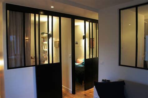 la porte de la cuisine porte coulissante atelier d 39 artiste vitrée et en acier 1