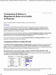Cronogramas De Barras Vs Diagramas De Redes En La Gesti U00f3n