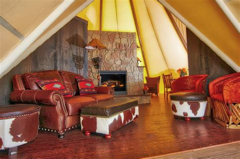 King Ranch Sofa by Westgate River Ranch Introduces Luxe Teepees On The Go