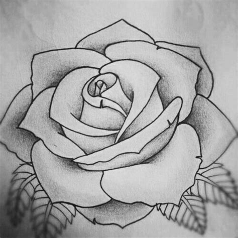 Rose Tattoo Design Sketch  Small Tattoos Pinterest