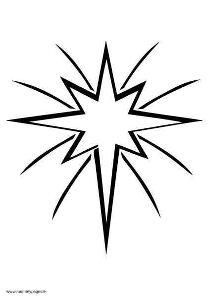 christmas star  sky colouring page mummypagesmummypagesie