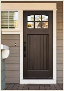 Front door color with gray siding black doors give even for Brown front door