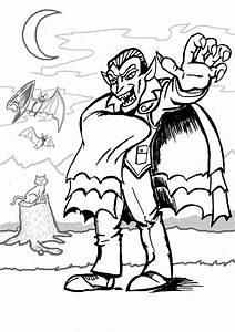 Dessin Halloween Vampire : vampire 8 personnages coloriages imprimer ~ Carolinahurricanesstore.com Idées de Décoration