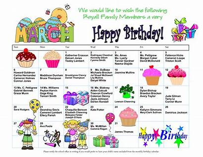 Birthday Calendar Template Birthdays Allbusinesstemplates Templates